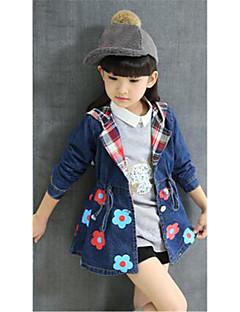 Casual/Dagelijks-Bloemen -Katoen-Lente / Herfst-Girl's-Jeans / Kostuum & Blazer-Blauw