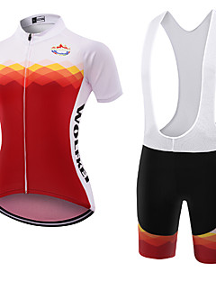 WOLFKEI Summer Cycling Jersey Short Sleeves BIB Shorts Ropa Ciclismo Cycling Clothing Suits #38