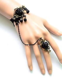 Sieraden Gothic Armband Lolita Zwart Lolita Accessoires Armband / Ring Kant Voor Dames Satijn / Kant / Legering