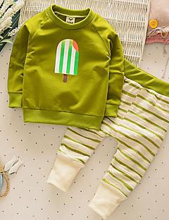 Junge Sets Lässig/Alltäglich einfarbig Baumwolle Frühling / Herbst Lange Ärmel Kleidungs Set