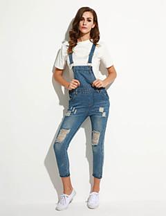 Polyester-Micro-elastisch-Medium-Vrouwen-Street chic-Jumpsuits-Mouwloos