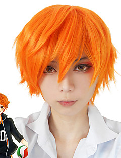Cosplay Suits Haikyuu Nick Orange Short Anime Cosplay Wigs 30CM CM Heat Resistant Fiber / Synthetic Fiber Male