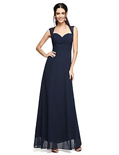 2017 לנטינג מהרצפה אורך bride® שיפון גב פתוח שמלת השושבינה - מתוקה עם קשת (ים)