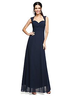 2017 Lanting andar de comprimento bride® chiffon abrir volta vestido de dama de honra - querida com arco (s)