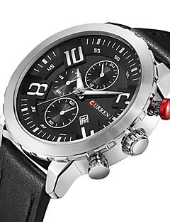 Herren Sportuhr Militäruhr Kleideruhr Modeuhr Armbanduhr Armband-Uhr Armbanduhren für den Alltag Japanisch QuartzKalender Großes