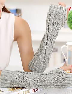 kvinders simple geometriske strik albue længde halv finger sød / part / afslappet vinterhandsker