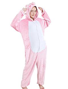 Kigurumi פיג'מות חזרזיר/חזיר פסטיבל/חג הלבשת בעלי חיים Halloween ורוד טלאים מינק הקטיפה Kigurumi ל יוניסקס / נקבה / זכרהאלווין (ליל כל