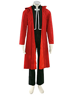 Fullmetal Alchemist Anime Cosplay Costumes Coat / T-shirt/ Pants / Badge / Gloves Male