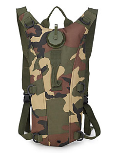 Riding Bag Folding Backpack Sports Outdoor Bag 3L Water Bag Backpack Camouflage Package Outdoor Sports Goods 1PC