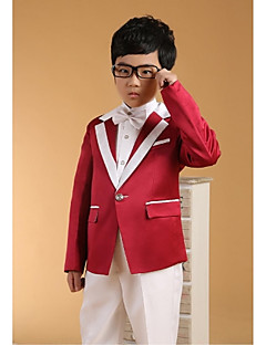 Cotton Ring Bearer Suit - Six-piece Suit Pieces Includes  Jacket / Shirt / Vest / Pants / Waist cummerbund / Bow Tie