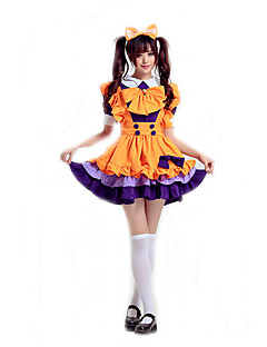 Cosplay Costumes Maid Costumes / Oktoberfest/Beer / Cosplay / Waiter/Waitress Movie Cosplay Red / Purple / Pink / Yellow SolidDress /