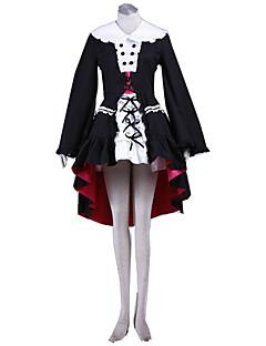 Inspirovaný Suzumiya Haruhi Cosplay Anime Cosplay kostýmy Cosplay šaty Jednobarevné Šaty Vlasové ozdoby Rukávy Punčocháče Více doplňků Pro