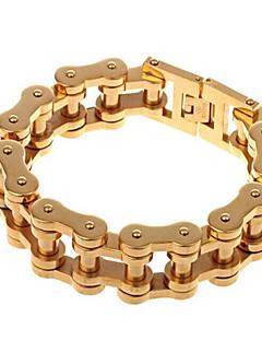 Pánské Řetězové & Ploché Náramky Módní Nerez Pozlacené Šperky Pro Párty Narozeniny Denní Ležérní