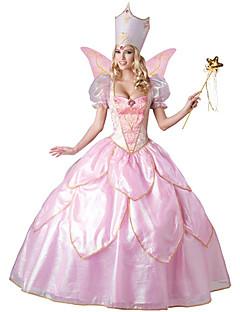 Da principessa Fiabe Feste/vacanze Costumi Halloween Rosa Di pizzo Tinta unita Abito CappelliHalloween Natale Carnevale Giornata