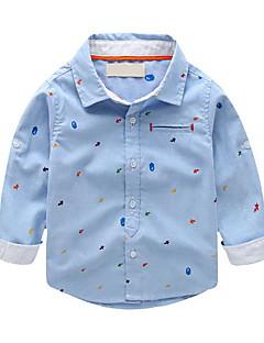 Boy Casual/Daily Print Blouse,Cotton Spring / Fall Long Sleeve Regular