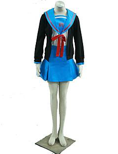 Inspirovaný Suzumiya Haruhi Cosplay Anime Cosplay kostýmy Cosplay šaty Jednobarevné Kabát Sukně Mašle Pro