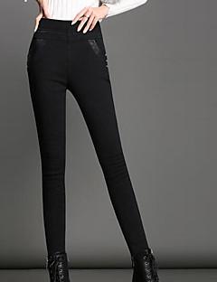 Damen Polyester Solide Einfarbig Legging,Dieser Stil entspricht der originalen Größe.