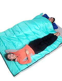 שק שינה שק שינה מלבני כפול -15-20 כותנה חלולהX145 ציד צעידה קמפינג לטייל חוץ עמיד ללחות נייד ייבוש מהיר עמיד נשימה