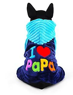 犬用品 ジャンプスーツ 犬用ウェア 冬 文字&番号 キュート ファッション 保温 ローズ ブルー