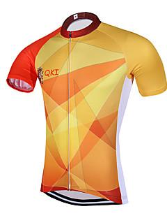 ספורטיבי חולצת ג'רסי לרכיבה לגברים שרוול קצר אופניים נושם ייבוש מהיר עיצוב אנטומי רוכסן קדמי כיס אחורי תומך זיעה ג'רזיספנדקס פוליאסטר