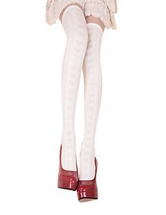 Ponožky a punčochy Sweet Lolita Lolita Bílá Lolita Příslušenství Punčocháče Tisk Pro Dámské Bavlna