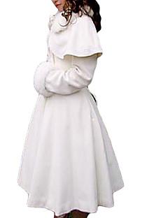 Kabát Klasická a tradiční lolita Princeznovské Cosplay Lolita šaty Bílá Jednobarevné Dlouhé rukávy Medium Length Kabát Pro Dámské Samet