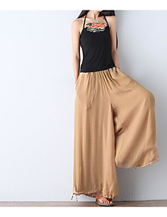 Women's Loose Chinos Pants,Casual/Daily Simple Solid Mid Rise Elasticity Rayon Inelastic Summer / Fall