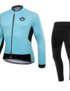Esportivo Calça com Camisa para Ciclismo Unissexo Manga Comprida MotoRespirável / Térmico/Quente / Secagem Rápida / Á Prova-de-Pó /