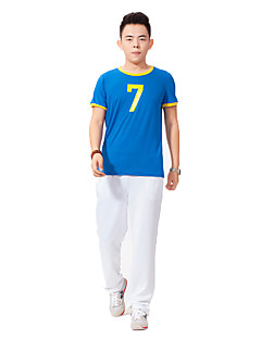 Cosplay Costumes Party Costume Cheerleader Costumes Career Costumes Festival/Holiday Halloween Costumes Blue Red Green Solid Top Pants