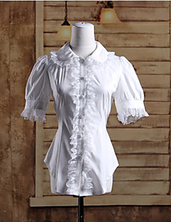 Blouse/Shirt Sweet Lolita Lolita Cosplay Lolita Dress White Solid Long Sleeve Lolita Blouse For Women Cotton