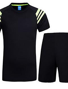 Dámské Krátké rukávy Běh Mikina Sady oblečení/Obleky Prodyšné Ter Emen Léto Sportovní oblečení Jóga Fitness Dostihy Běh Terylen Coolmax