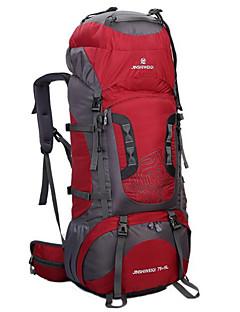 80 L ryggsekk Ryggsekk Pakker Sykling Ryggsekk Camping & Fjellvandring Klatring Fritidssport Sykling Vanntett Pustende Støtsikker Nylon