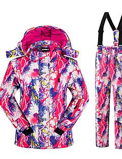 Skiklær Klessett Barn Vinterplagg Polyester Mote Vinterklær Hold Varm Pustende Bekvem Beskyttende Ski Fritidssport Snøsport Snowboarding