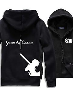 Innoittamana Sword Art Online Cosplay Anime Cosplay-asut Cosplay hupparit Painettu Valkoinen / Musta / Punainen / Sininen / HarmaaPitkä