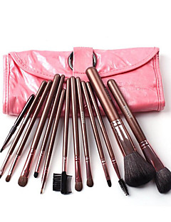 12 Makeup Brushes Set Weasel Travel / Portable Wood Face / Eye / Lip Others