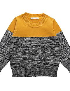 Uitgaan Casual/Dagelijks School Effen Gestreept Kleurenblok Katoen Winter Lente Herfst Lange mouw Unisex Trui & Vest Normaal