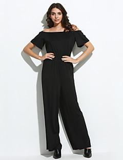 Damen Jumpsuits - Sexy / Einfach Kurzarm Polyester Mikro-elastisch