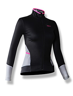 SPAKCT® Cycling Jersey Women's Long Sleeve Bike Breathable Thermal / Warm Windproof Jersey 100% Polyester Patchwork Spring Fall/Autumn