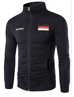 Herren Pullover Sport Lässig/Alltäglich Einfach Solide Rundhalsausschnitt Mikro-elastisch Baumwolle Lange Ärmel Herbst Winter