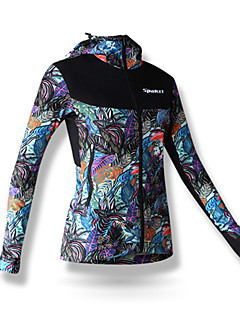 SPAKCT® Cycling Jacket Women's Long Sleeve Bike Quick Dry Windproof Jacket 100% Polyester Floral / Botanical Fall/Autumn Winter