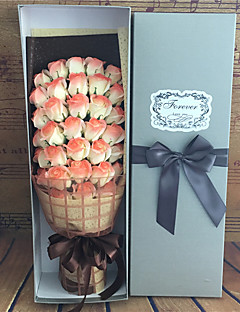 1 Ág Igazi érintés Rózsák Asztali virág Művirágok 60*12