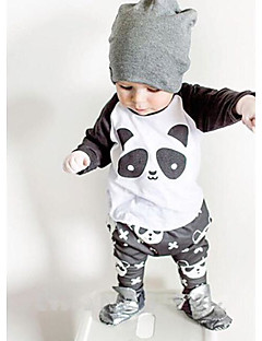 Boy Casual/Daily Solid Sets,Rayon Spring Fall Long Sleeve Clothing Set