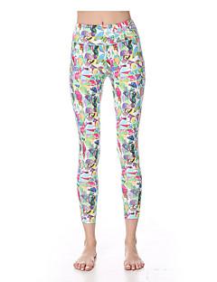 calças de yoga Meia-calça Leggings Respirável Secagem Rápida Compressão Tecido Ultra Leve Alto Com Elástico Moda Esportiva Mulheres