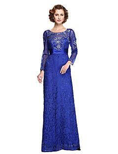 2017 Lanting bride® kappe / kolonne mor til bruden kjole - elegant gulvlang langærmet blonder tyl withappliques beading