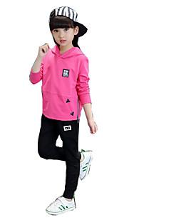 女の子 カジュアル/普段着 プリント コットン ポリエステル セット 春 長袖 アンサンブル