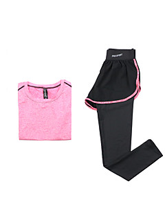 Women's Short Sleeve Running Clothing Sets/Suits Breathable Quick Dry Sports Wear Yoga Exercise & Fitness Running Modal Polyester Slim
