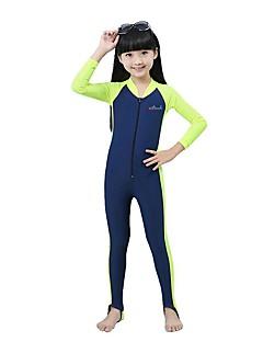 BlueDive® לילדים חליפות רטובות Skins הצלילה Wetsuits מלא נושם ייבוש מהיר עיצוב אנטומי עמיד אולטרה סגול מגן גוף מלא רוכסן YKK קרם הגנה