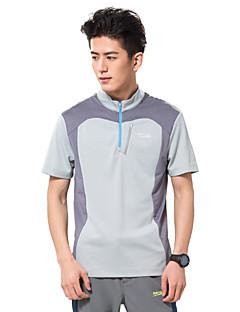 Corrida Camiseta Blusas Homens Manga Curta Respirável AntibacterianoAcampar e Caminhar Pesca Alpinismo Exercício e Atividade Física Golfe