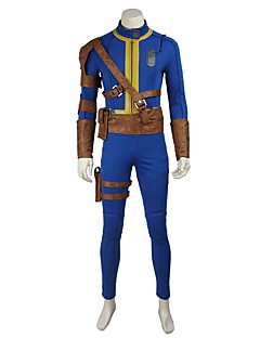 Inspired by Fallout 4 Video Game Cosplay Costumes Cosplay Suits Cosplay Tops/Bottoms Solid Blue Leotard Belt More Accessories
