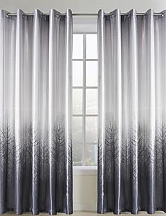 İki Panel Pencere Tedavi Ülke Oturma Odası Polyester Malzeme Perdeler Perdeler Ev dekorasyonu For pencere
